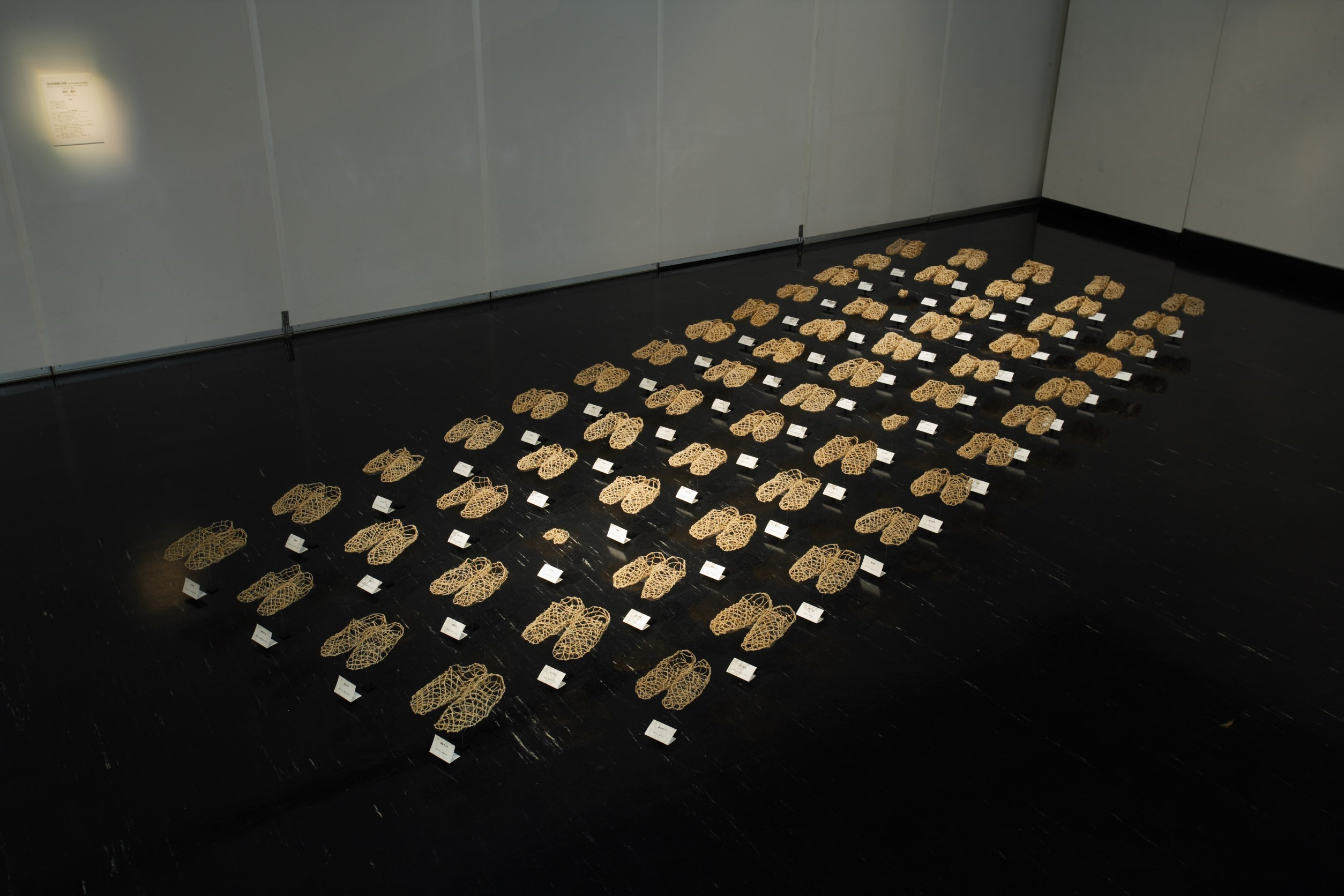HOKKAIDO THREE-DIMENSIONAL ART '08-64 persons' foot shapes that evoke memories-